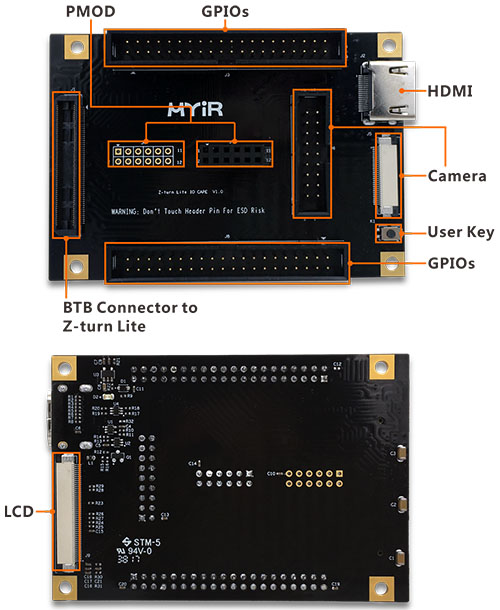 Z-turn Lite IO Cape | I/O Expansion Board for Z-turn Lite Xilinx